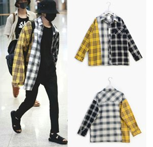 Wholesale Cool Kpop SUGA Sweatshirts Hoodies Women Men Moleton Tracksuit Cotton Patchwork Plaid Harajuku Top Coat Hoodie Streetwear