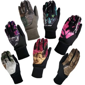 Wholesale Camouflage Touch Screen Gloves Leaves Camouflage Palm Non-slip Touch Glove Winter Cycling Motorcycle Full Finger Gloves 5colors GGA2542