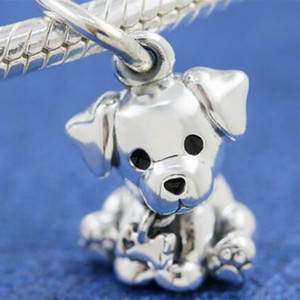 Wholesale silver labradors for sale - Group buy New Sterling Silver Labrador Puppy Hanging Dangle Charm Bead Fits European Pandora Jewelry Bracelets Necklace Pendant