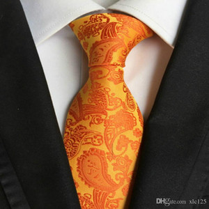200 Styles Men Ties Fashion Classic Neckties 8cm High Quality Silk Paisley Neck Ties Business Tie Handmade Wedding Ties