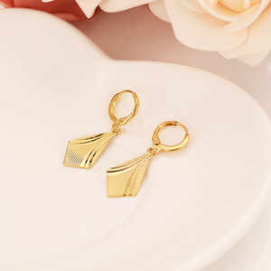 Light Fine 24 k Yellow Solid Gold surface Knife Earrings for Women's Girls African Beautiful Earrings Ethiopian Jewelry,Nigeria