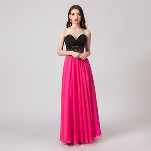 Wholesale 2019 Strapless Luxurious Evening Dress A Line Prom Dress Sequins Beaded Crystal Fring Dress Party Gown Custom Made
