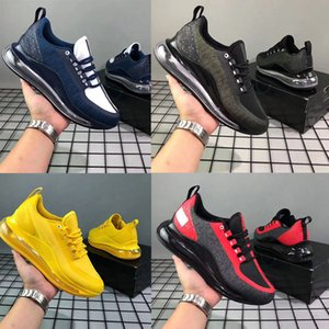 2019 New Shoes Full Cushioned Men Women Neon Triple Black Carbon Grey Sunset Metallic Silver Chaussures Running Shoes EUR Size 36-45 on Sale