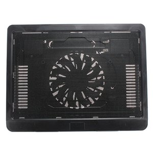 Wholesale S SKYEE Backlight Computer Radiator Black White Thin USB Laptop Cooling Pad Notebook Cooler Stand with mm LED Cooling Fan