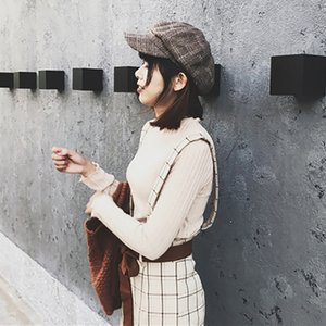 Women New Hat Beret Octagonal Beret Cool Stuff Cap Plaid for Baseball Tennis Awning Female Hats Vintage 2018