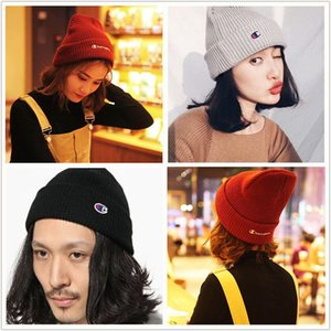 Wholesale Champion Brand Knit Caps Beanies Couples Hat Fashion Mask Caps Winter Spring Skull Cap Teenagers Knitted Hip Hop Hats Outdoor Cap B9303
