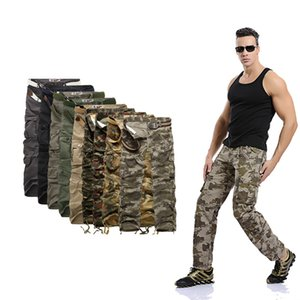2019 NEW MENS CASUAL MILITARY ARMY CARGO camouflage WORK PANTS Men's clothing men camouflage 9 color code more bags Trousers Men Pants 2831