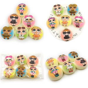 Wholesale Surprise GirlS Squishy Ball Slow Rising Cartoon Squishies Toy Noval Simulated Bread Press Relief Gift Decompression Toys A43002