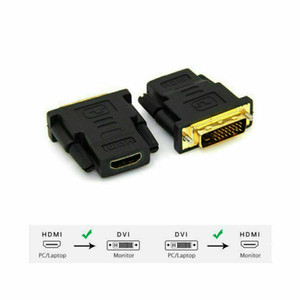 Wholesale hdmi electronics resale online - DVI D Male pin to HDMI Female pin HD HDTV Monitor Display Adapter Consumer Electronics TV Computer Accessories
