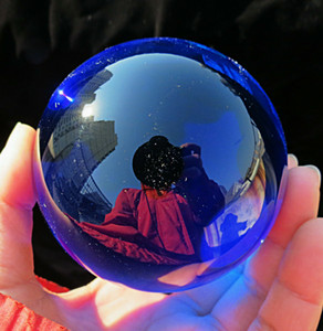 Wholesale natural crystal ball sphere stands for sale - Group buy Asian Rare Natural Quartz Blue Magic Crystal Healing Ball Sphere MM Stand VI4