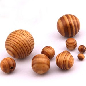 Natural Wood Beads Round Wooden Teething Beads Spacer Loose Beads 8mm to 18mm DIY Bracelets Prayer Necklace Jewelry Supplies