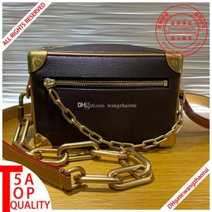 New style 5AM44480 Top quality genuine leather bag MINI SOFT TRUNK Men Crossbody Bags real leather messenger bag M30351 shoulder bag withbox