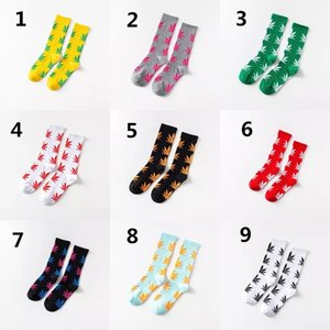 2019 Popular Hemp-Leaf Socks Thread-In-Tube Maple-Leaf Socking Maple-Leaf Socks Men Socks And Women Sock on Sale