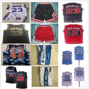 NCAA North Carolina Tar Heels 23 Michael Shorts Space Jam Tune Squad Movie Basketball Jerseys Sets