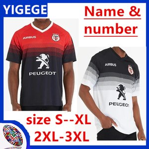 2020 Toulouse Home Rugby Jersey 2019 STADE TOULOUSAIN Toulouse Rugby Jerseys League jersey Tluth shirt Leisure sports size S-3XL (can print)