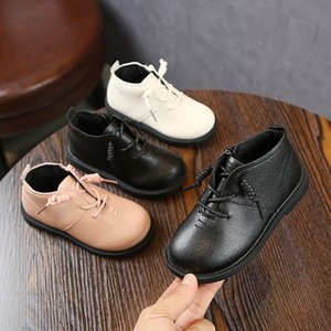 Autumn Children Flower Toddler Girls Fashion Kids Shoes Boy Martin Boots Girl Casual Temperament Soft Leather Catamite on Sale