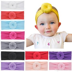Wholesale Baby Headbands Doughnut Knot Bands India Donut Headband Infant Kids Girls Hairbands Children Hair Accessories Kids Hair Band Kha396