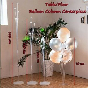 Wholesale Balloon Column Stand Kit Wedding Decor Base Tube Display Baby Shower birthday decoration princess party birthday decorations rose gold