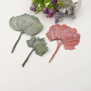 Wholesale 12pcs Artificial Nostalgic Maple Tree Leaf Shape Leaves for Wedding Decoration Handmade DIY Scrapbook Craft Garland Accessories