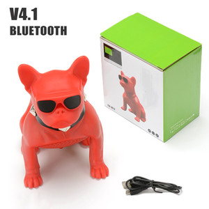 Wholesale Wireless Bluetooth Boombox Mini Portable bulldog Speaker Stereo Deep Bass Sound Subwoofer For Phone PC Column