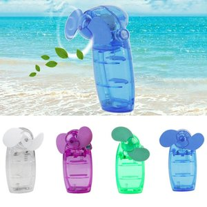 Wholesale Mini Portable Pocket Fan USB Fan Cool Air Hand Held Battery Travel Holiday Blower Cooler send in Random Color New