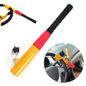 Wholesale 1Pcs Car Steering Wheel Baseball Lock With Keys Auto Security Steering Wheel Lock Car Alarm Anti theft Device Personal Safety