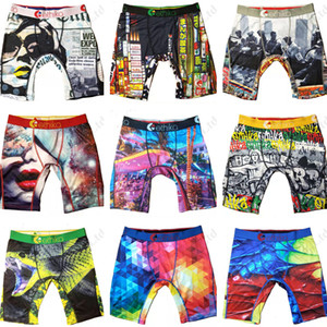Cheap Panties Colors Underwears Women Men Quick Dry Sports Shorts Boxer Beach Swim Trunks Pants Graffiti Design Short Briefs A120301