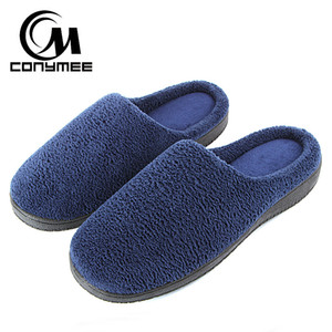 Wholesale CONYMEE Casual Shoes Men Home Slippers Winter Warm Indoor Plush Slipper Pantufa For Men Outdoor Cotton Slippers Terlik Big Size
