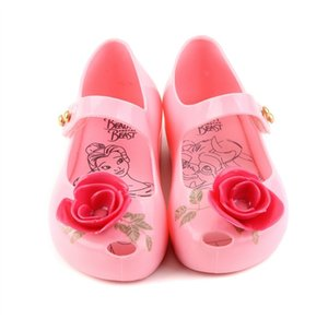 Wholesale Mini Melissa New Beauty Beast Kids Jelly Sandals Girl Princess Sandals Melissa Brand Shoes Rose Teacup MX190726