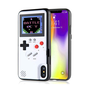 Wholesale Mini Handheld Color Display Classic Game Phone Case For iPhone X XS XS Max XR Plus Console Game boy Soft TPU Silicone Cover case
