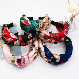 2020 Knot Fabric Headbands For Women Wide Floral Print Girls Hairband Female Fashion hair accessories