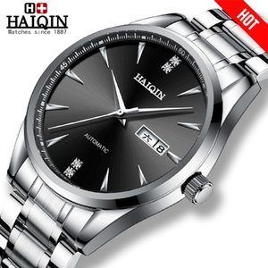 Wholesale wirst watch resale online - HAIQIN Mens watches automatic mechanical Mens Watches top brand luxury watch men wirst watch business clock Reloj hombres