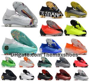 Hot Superfly VI 360 Elite FG VII 6 7 CR7 Ronaldo Mens Women Boys High Soccer Shoes Football Boots Cleats US 3-11