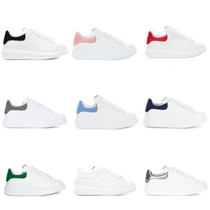 Wholesale Designer Mens Womens Luxury White Leather Platform Shoes Flat Casual Shoes Lady Muffin Sports Sneakers Man Casual fitness Shoes