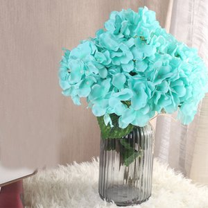 Wholesale 7 Heads Artificial Hydrangea Flower Bouquet Home Garden Decoration Accessories Wedding Birthday Party Decorative Fake Flowers