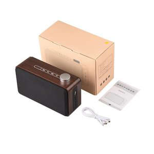 Wholesale Wooden Wireless Bluetooth Speaker Good Sound Loudspeakers Surround Wood Wireless Speaker For Phone Computer DHL Free Ship