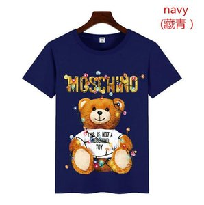 Wholesale 19ss TOPS Summer New Moschin O Tee Cotton Short Sleeve Breathable Men Women Moschinos Swing Bear Casual Outdoor tee Street wear T shirts