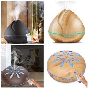 Wholesale hot 4style Air Ultrasonic Humidifier Aroma Essential Oils Diffusers Sun Flower Remote Control Humidifier Home Bedroom sprayer T2I5162