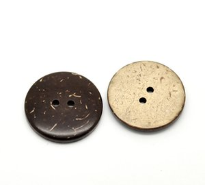 Wholesale DIY Apparel Sewing Fabric Buttons Hoomall Brown Coconut Shell Holes Sewing Buttons Craft And Scrapbooking mm quot Dia
