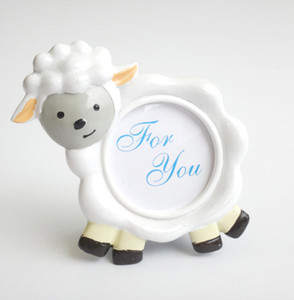 Wholesale 50 NEW ARRIVAL Lovely Sheep Design Picture Frame Photo Holder Baby Shower Favors Birthday Party Gift