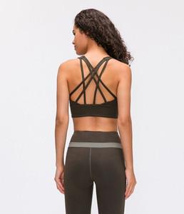 19112 fashion free to be serene bra shirts gym vest push up fitness tops sexy underwear lady tops yoga bra