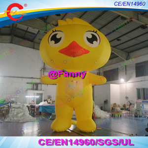 Wholesale stand up giant inflatable duck cartoon for party event decoration blow up yellow duck inflatable duck cartoon free air ship