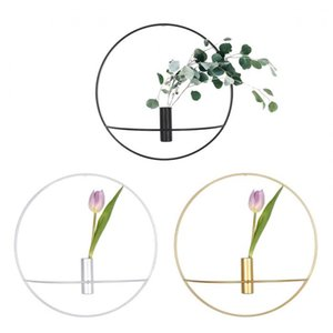 Candle Holders Home Decor Special Section Europe 3d Metal Candlestick Geometric Tea Light Circle Candle Holder Wall Mounted Home Decor Crafts Flower Pot