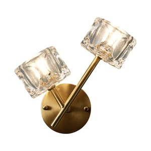 Wholesale Luxury copper web celebrity wall lamp Modern creative personality Nordic lamp hotel LED crystal wall light