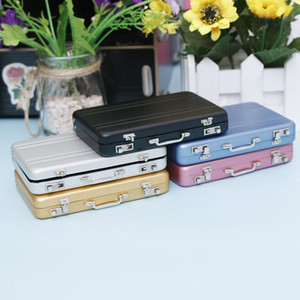 Wholesale Slim Holder New Metal Business ID Holder Mini Suitcase Bank Card Box Case
