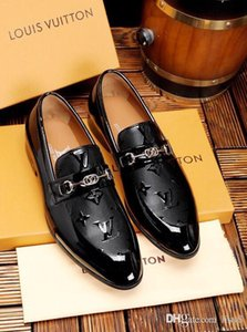 Wholesale 2019ss High Quality Men High Top Shoe Designer New Brand Office Shoes Luxury Dress Shoes Casual Shoes For Men Business Brown Black