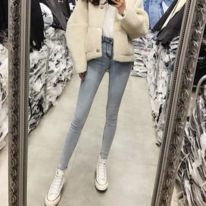 Wholesale 2019 new spring and autumn Fashion casual cotton skinny Stretch young girls pencil pants jeans clothes