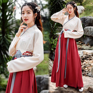 Wholesale Woman Hanfu Dress Chinese Folk Dance Costumes Oriental Qing Tang Suit Dynasty National Fairy Princess Photography Dress DL4460