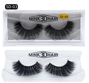 Wholesale HOT New 3D Mink Eyelashes Eyelashes Messy Eye lash Extension Sexy Eyelash Full Strip Eye Lashes by chemical fiber Thick DHL shipping