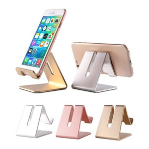 Wholesale Bracket Stand Holder Aluminum Desktop Solid Portable Universal Desk Stand for Mobile Smart Phone for ipad tablet iphone xs max LX2195